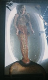 Mermaids are often described as being composed of female torsos attached to fish tails, as in this scene of Daryl Hannah from the movie 'Splash'. This screenshot is copyrighted by those who own the copyright to the film.