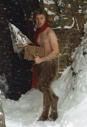 Mr. Tumnus from the film 'The Chronicles of Narnia: The Lion, the Witch and the Wardrobe' is a classic satyr, also called a faun. This movie still is copyrighted by Walt Disney Pictures.